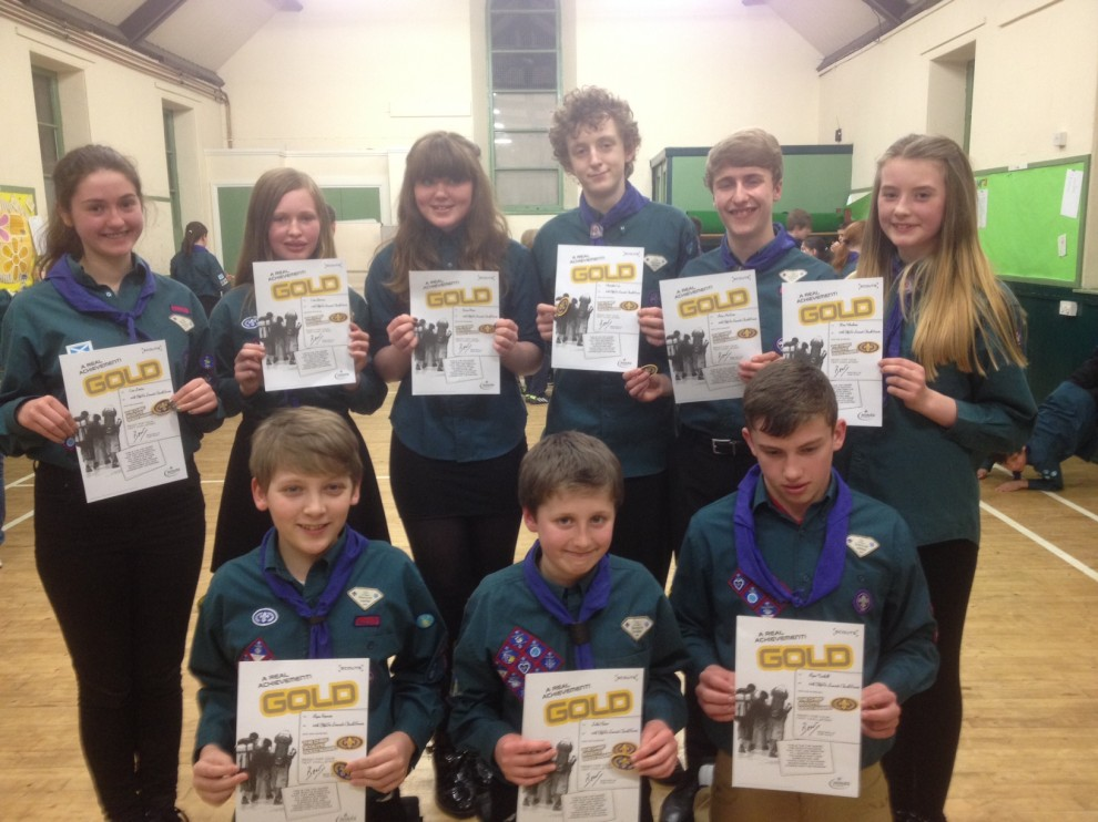 2014-03-17 Chief Scout Gold Award