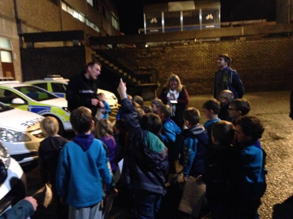 Beavers at Police Station