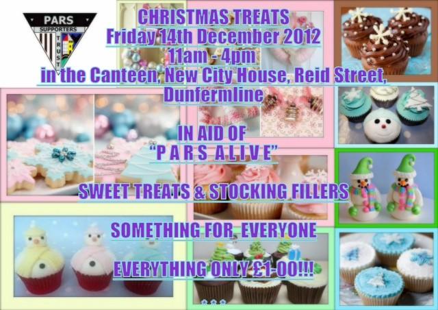 Pars Alive Christmas Treats Fri 14th Dec 2012 11am to 4pm