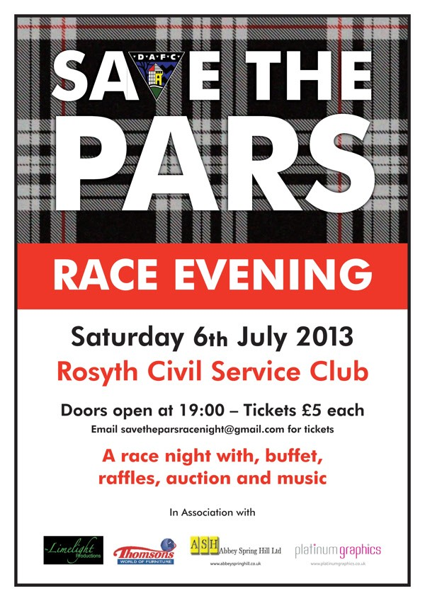 Save The Pars Race Evening