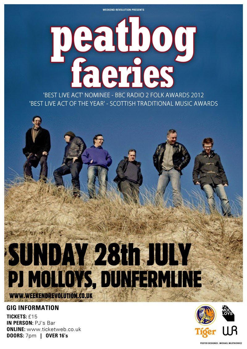 Peatbog Fairies on at PJ Molloys 28th July 2013