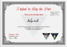 PST I helped to but the Pars certificate for DAFC.net