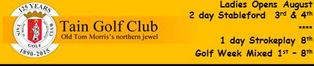 Bottom Banner Tain Ladies 13th Feb 2015